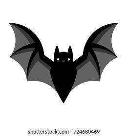 Vector Cartoon Bat Emoji Isolated On White Background