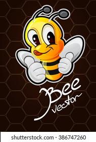 vector cartoon bee illustration