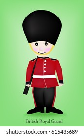 Vector - Cartoon a British Royal Guard .