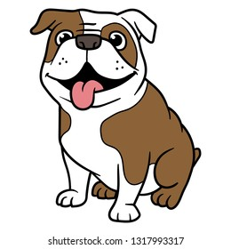 Vector Cartoon Bulldog