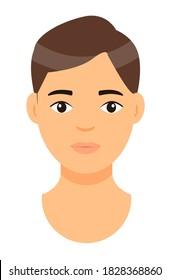 Cartoon Man Brown Hair Hd Stock Images Shutterstock