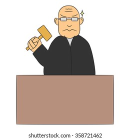 vector cartoon character judge