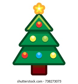 christmas tree cartoon images stock photos vectors shutterstock https www shutterstock com image vector vector cartoon christmas tree isolated on 738273073