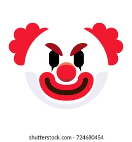 Vector Cartoon Clown Emoji Isolated On White Background