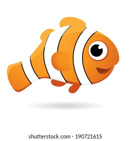 Vector cartoon clown fish