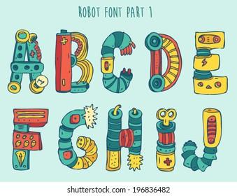 Robotic Font Images Stock Photos Vectors Shutterstock