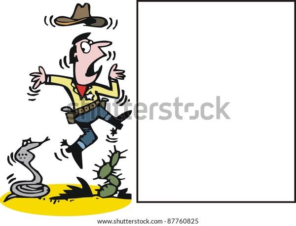 c5f3973eec7 Vector Cartoon Cowboy Snake Stock Vector (Royalty Free) 87760825