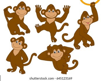 monkey clipart images stock photos vectors shutterstock rh shutterstock com monkeys clipart black and white monkey clip art outline