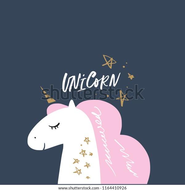 Case Cartoon Cute Unicorn Illustration