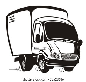 Vector Cartoon delivery / cargo truck. More vector cartoon cars illustrations see in my portfolio.