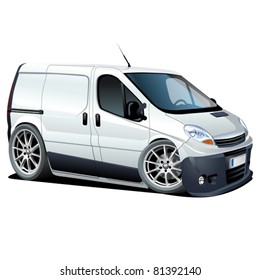 Vector cartoon delivery / cargo van