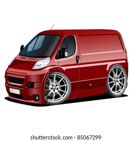 Vector cartoon delivery van