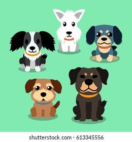 Vector cartoon dogs