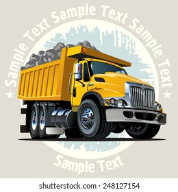 Vector Cartoon Dump Truck. Available EPS-10 vector format with transparency effects for easy edit