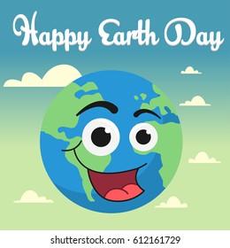 Vector cartoon Earth Illustration for Earth day