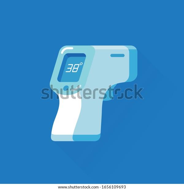Vector De Stock Libre De Regalias Sobre Termometro Electronico De Dibujos Animados Vectoriales 1656109693 Dibujado y con sus partes. https www shutterstock com es image vector vector cartoon electronic thermometer noncontact infrared 1656109693