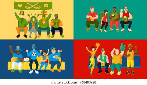 Male Fans Stock Vectors Images Vector Art Shutterstock