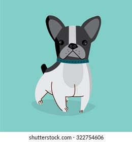 Vector Cartoon French Bulldog