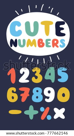 Vector Cartoon Funny Numbers Different Colors Stock Vector (Royalty ... a5af81473b0aa