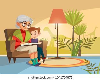 Grandma Kids Cartoon Images, Stock Photos & Vectors | Shutterstock
