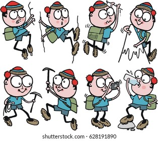 Cartoon Mountain Climbers Images Stock Photos Vectors Shutterstock