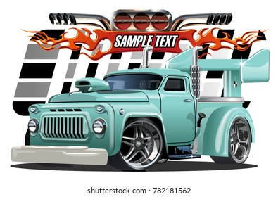 Vector cartoon hotrod. Available EPS-10 separated by groups and layers with transparency effects for one-click repaint