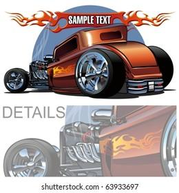 Vector cartoon hot-rod. More vector cartoon cars see in my portfolio.