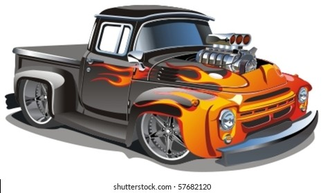 Vector cartoon hot-rod - Original design
