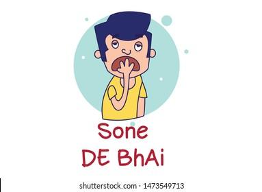 Hindi Funny Illustrations Images, Stock Photos & Vectors