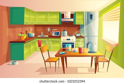 Dining Room Cartoon Images Stock Photos Vectors Shutterstock