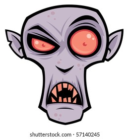 Vector cartoon illustration of the creepy vampire, Count Dracula. Great for Halloween.