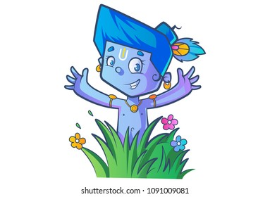 cute krishna images stock photos vectors shutterstock