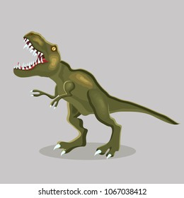 Vector cartoon  illustration of a dinosaur. T-REX. Tyrannosaur.