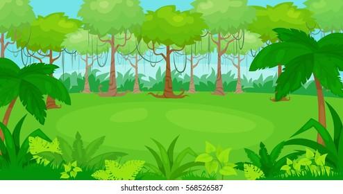 Jungle safari stock images royalty free images vectors shutterstock vector cartoon illustration of jungle background vector landscape toneelgroepblik Choice Image