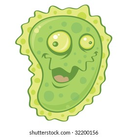 Vector cartoon illustration of a virus or germ. Could be used to represent a cold, flu, bacteria or other sickness or illness.