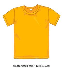 Vector Cartoon Illustration - Yellow T-shirt