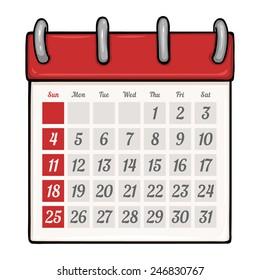 calendar cartoon images stock photos vectors shutterstock https www shutterstock com image vector vector cartoon looseleaf calendar 246830767