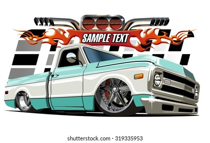 Vector cartoon Low rider. Available EPS-10 separated by groups and layers with transparency effects for one-click repaint