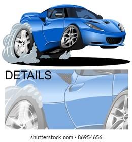 vector cartoon modern car
