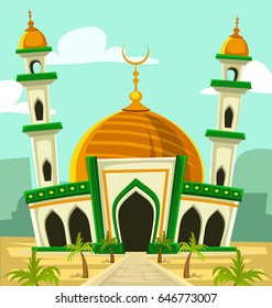 Beautiful Mosque Cartoon Images