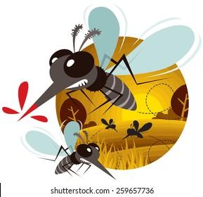 Vector of Cartoon Mosquito