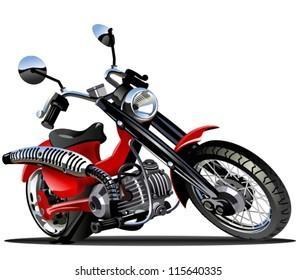 Vector Cartoon Motorcycle