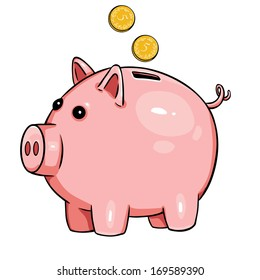 piggy bank clip art cartoon images stock photos vectors rh shutterstock com piggy bank clipart images piggy bank clipart images