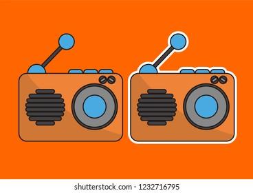 vector cartoon radio