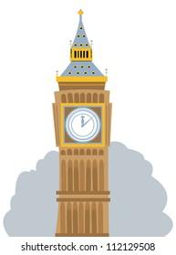 Big Ben Cartoon Images Stock Photos Vectors Shutterstock