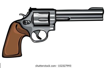 vector cartoon revolver