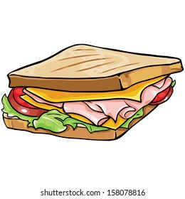 24+ Sandwich Cartoon Clipart