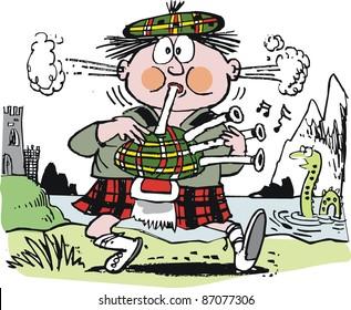 Image result for scotsman in kilt cartoon