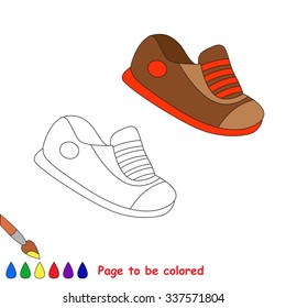 Vector cartoon shoes to be colored.