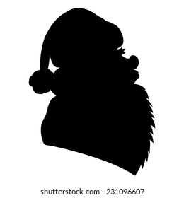 Vector cartoon sign. Santa Claus.